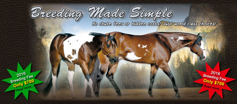 Breeding Made Simple. No chute fees or hidden costs! Just world class choices!